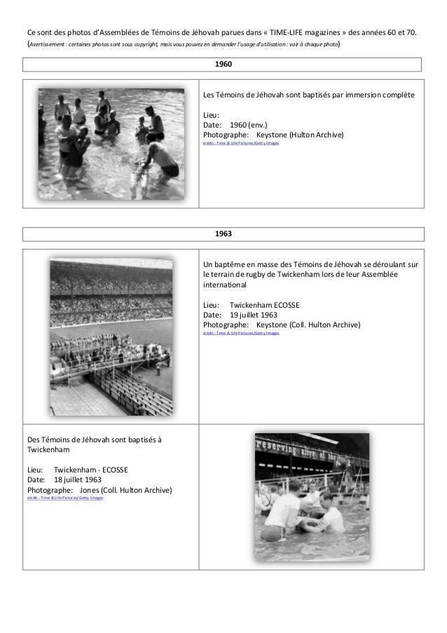 Ce sont des photos d'Assemblées de Témoins de Jéhovah parues dans « TIME-LIFE magazines » des années 60 et 70.(Avertisseme...