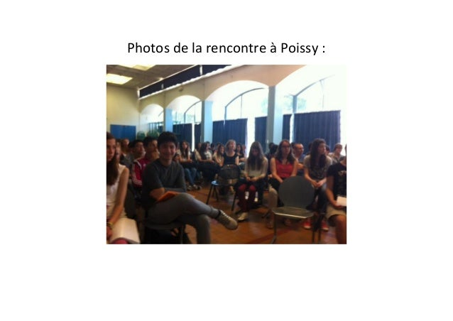 Photos de la rencontre à Poissy :
