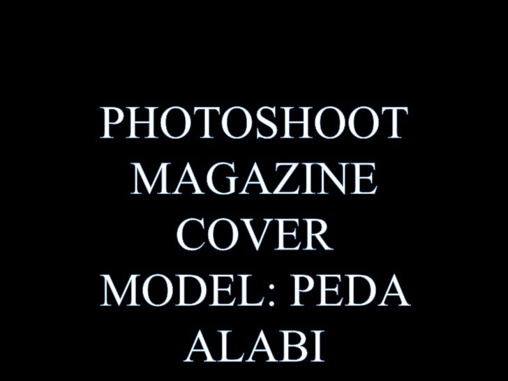 I started the shoot with ared brick background whichI had initially envisaged formy magazine cover. I doreally like this i...
