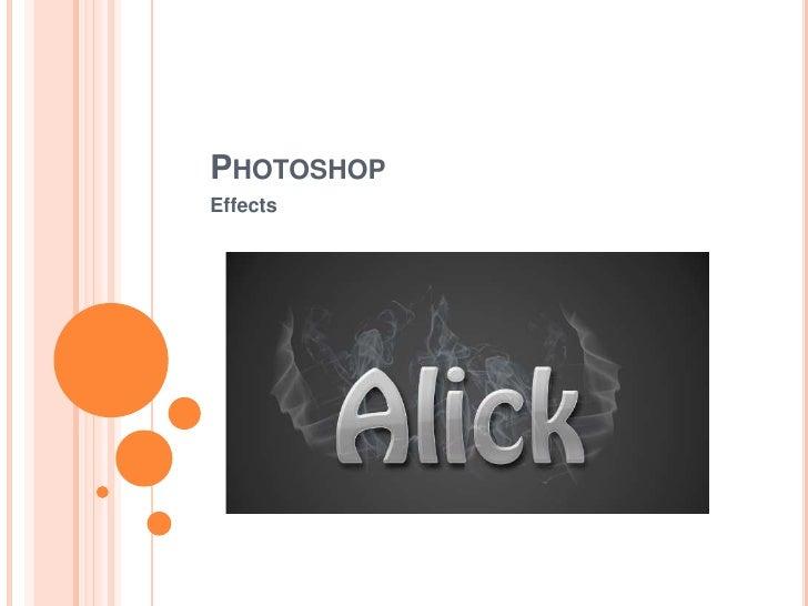 PHOTOSHOPEffects