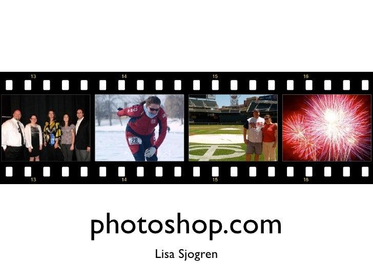photoshop.com     Lisa Sjogren