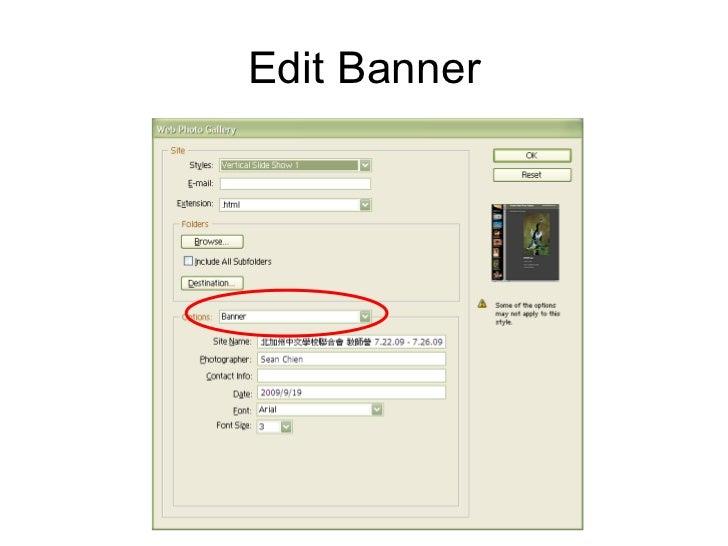 Photoshop 7 automate web photo gallery define destination folder 9 ccuart Image collections