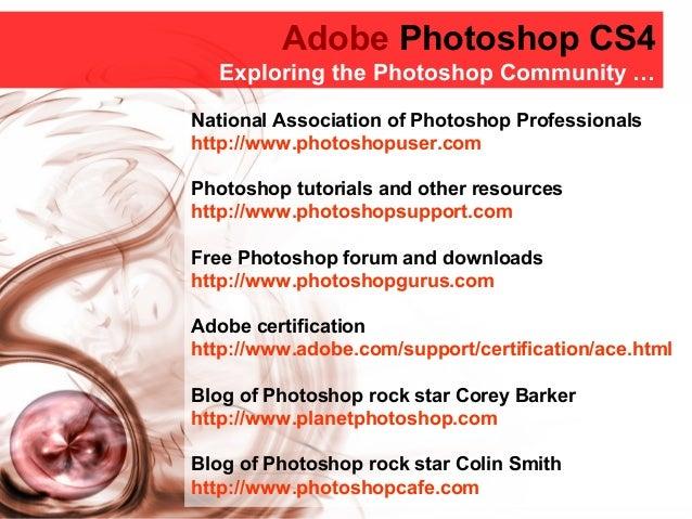 Adobe Photoshop CS4 Beyond Basics welcome & course outline