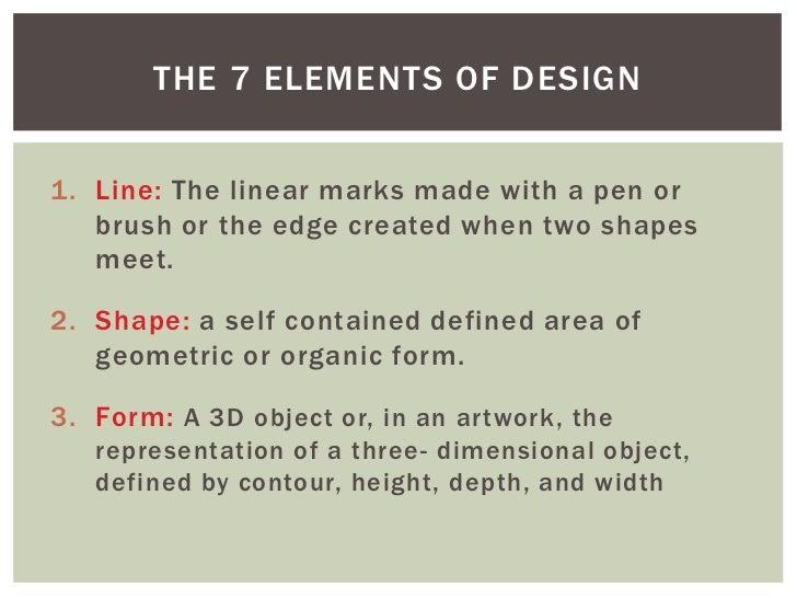7 Elements Of Design : Photoshop class elements of art design