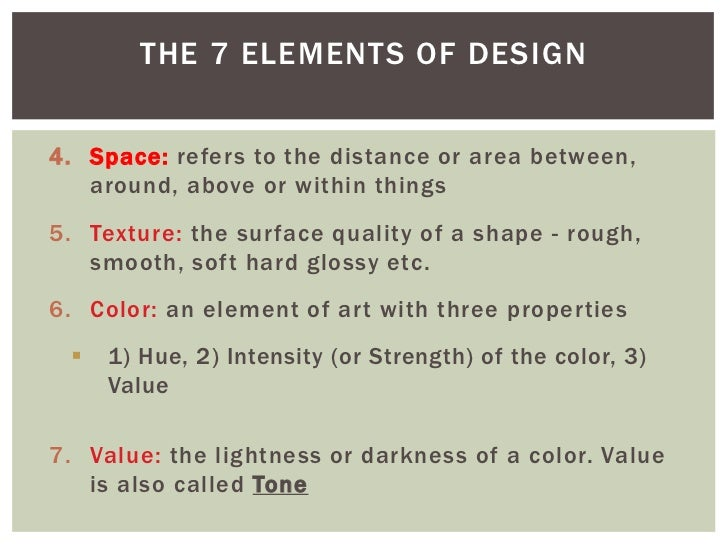 What Are The Seven Elements Of Art : Photoshop class elements of art design