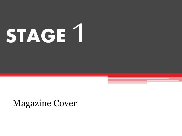 STAGE 1 Magazine Cover