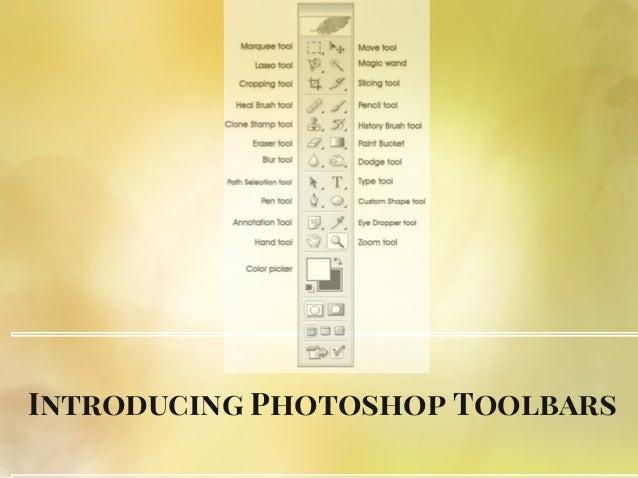 Introducing Photoshop Toolbars