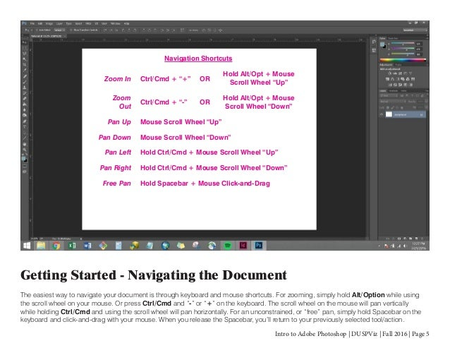 Intro to adobe photoshop tool bar panels control panel document menu bar 5 intro to adobe photoshop ccuart Image collections