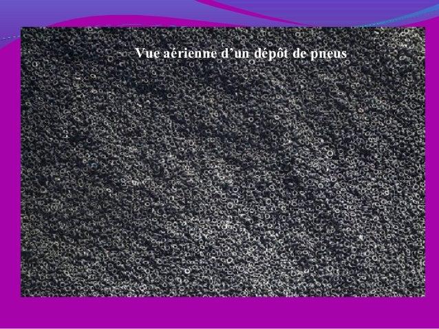 Vue aérienne d'un dépôt de pneus