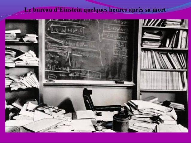 Le bureau d'Einstein quelques heures après sa mort
