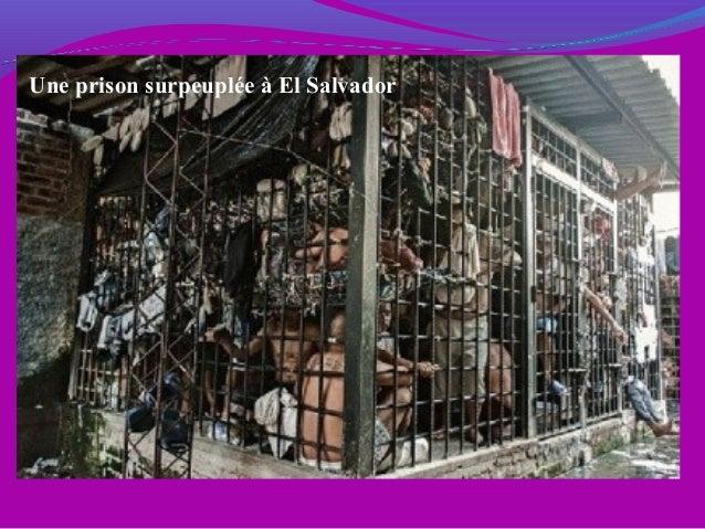 Une prison surpeuplée à El Salvador
