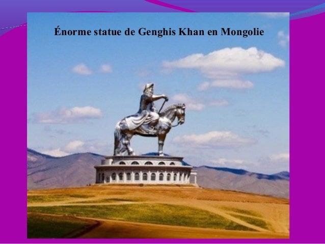 Énorme statue de Genghis Khan en Mongolie