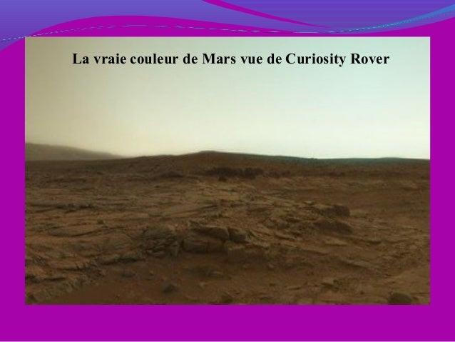 La vraie couleur de Mars vue de Curiosity Rover