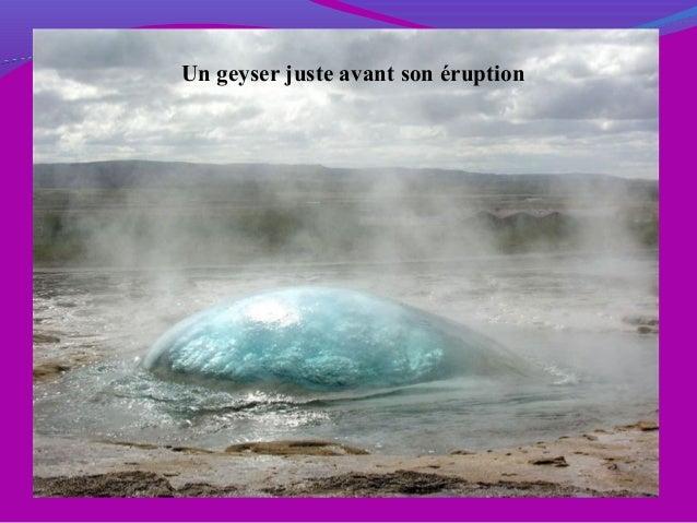 Un geyser juste avant son éruption
