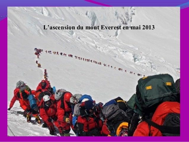 L'ascension du mont Everest en mai 2013