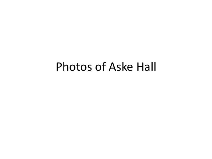 Photos of Aske Hall