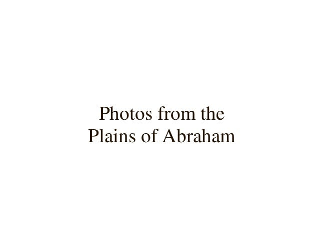 Photos from the Plains of Abraham (Part 1 of 2) Slide 3