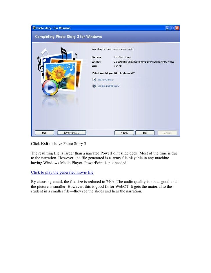 Microsoft photo story 3 for windows xp free download