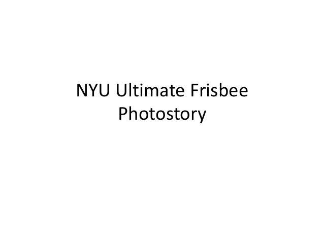 NYU Ultimate Frisbee Photostory