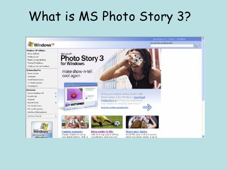 What is MS Photo Story 3?