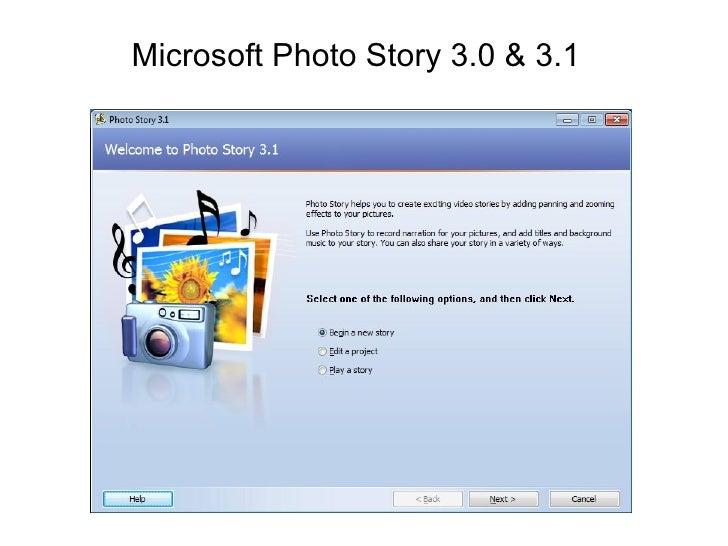 Microsoft Photo Story 3.0 & 3.1