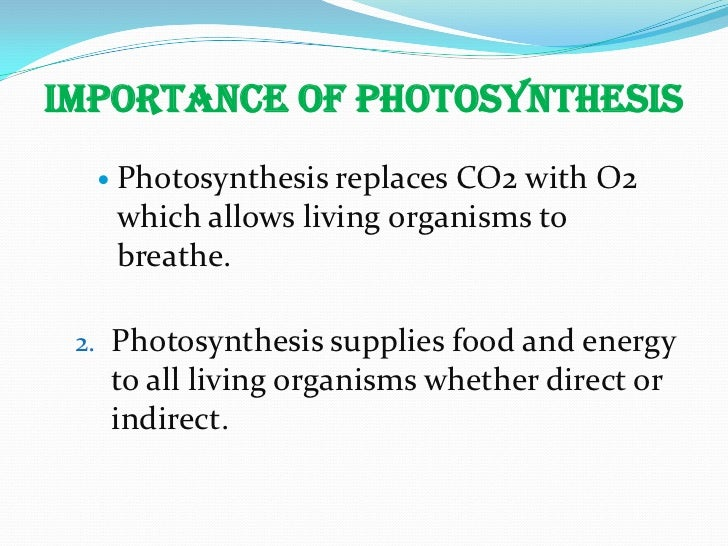 inportance of photosysthesis To show experimentally that light is necessary for photosynthesis.