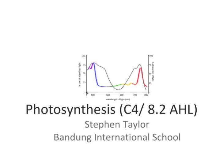 Photosynthesis (C4 & AHL)