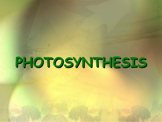 PHOTOSYNTHESISPHOTOSYNTHESIS