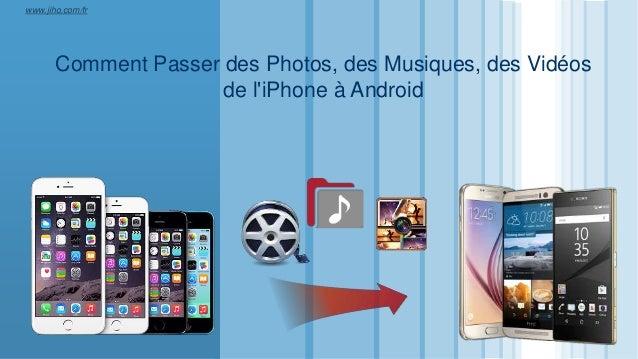 LOGO Comment Passer des Photos, des Musiques, des Vidéos de l'iPhone à Android www.jiho.com/fr