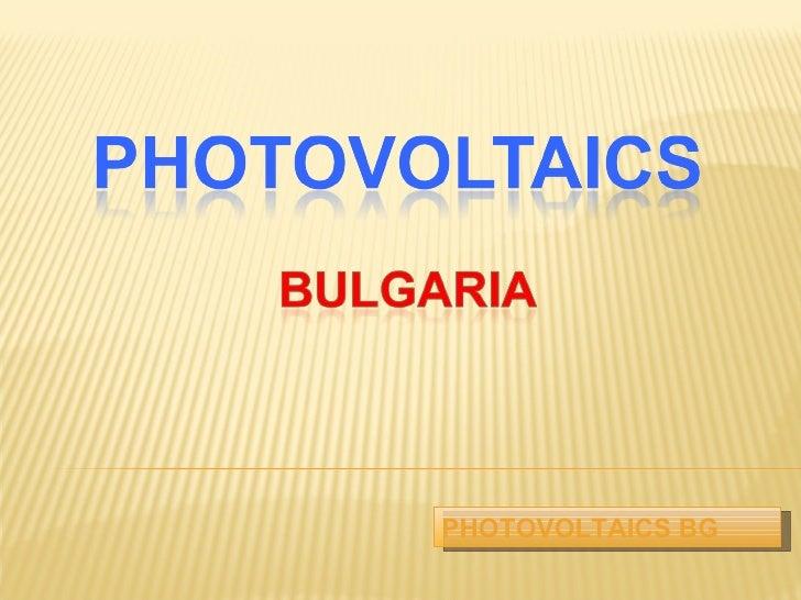 PHOTOVOLTAICS  BG
