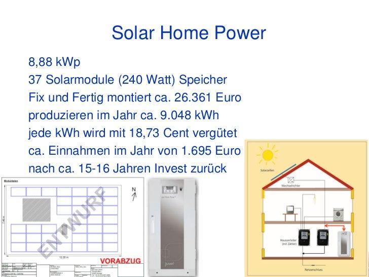 Solar Home Power8,88 kWp37 Solarmodule (240 Watt) SpeicherFix und Fertig montiert ca. 26.361 Europroduzieren im Jahr ca. 9...