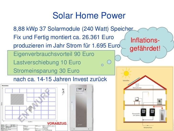 Solar Home Power8,88 kWp 37 Solarmodule (240 Watt) SpeicherFix und Fertig montiert ca. 26.361 Euro                        ...