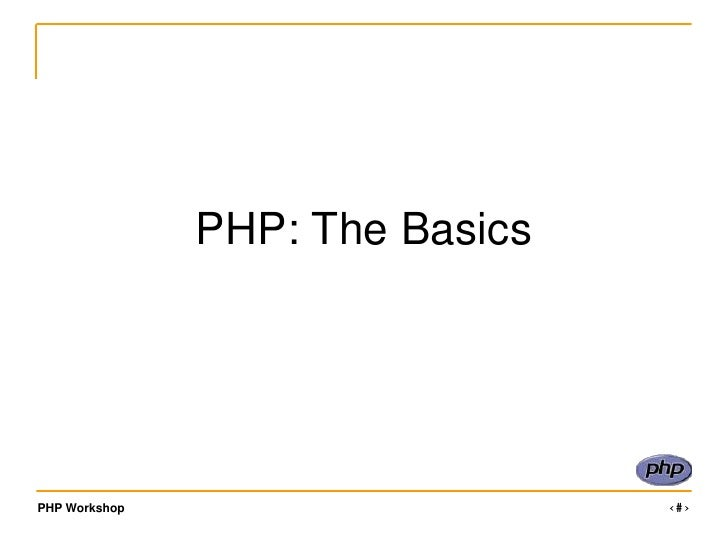 PHP: The Basics<br />