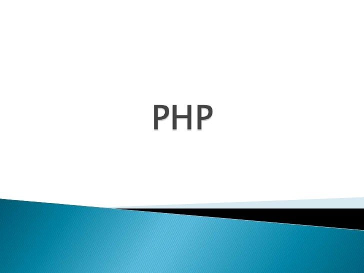 PHP<br />