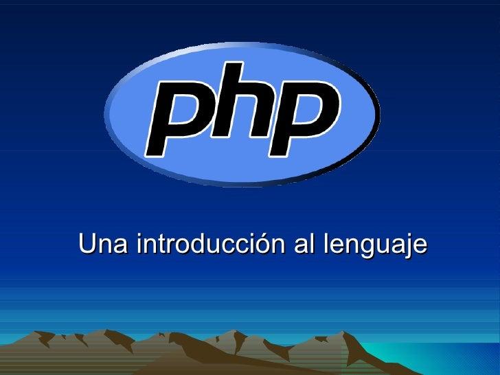 Una introducción al lenguaje