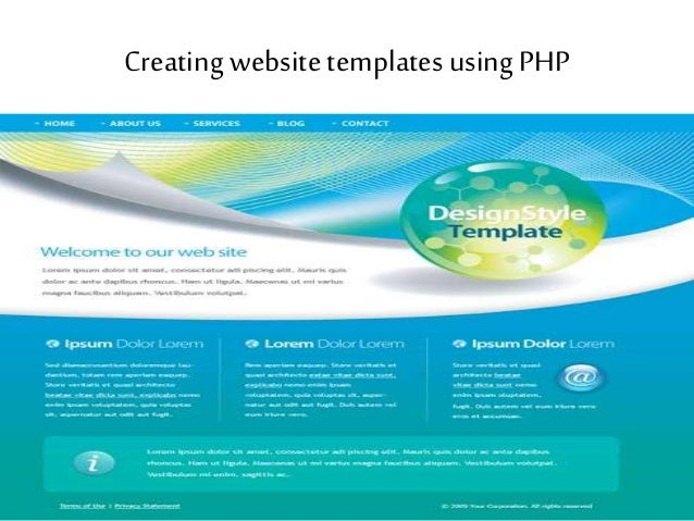 Attractive Php Web Template Mold Example Resume Ideas - Php website templates