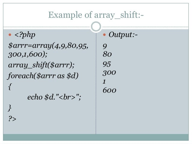php array shift