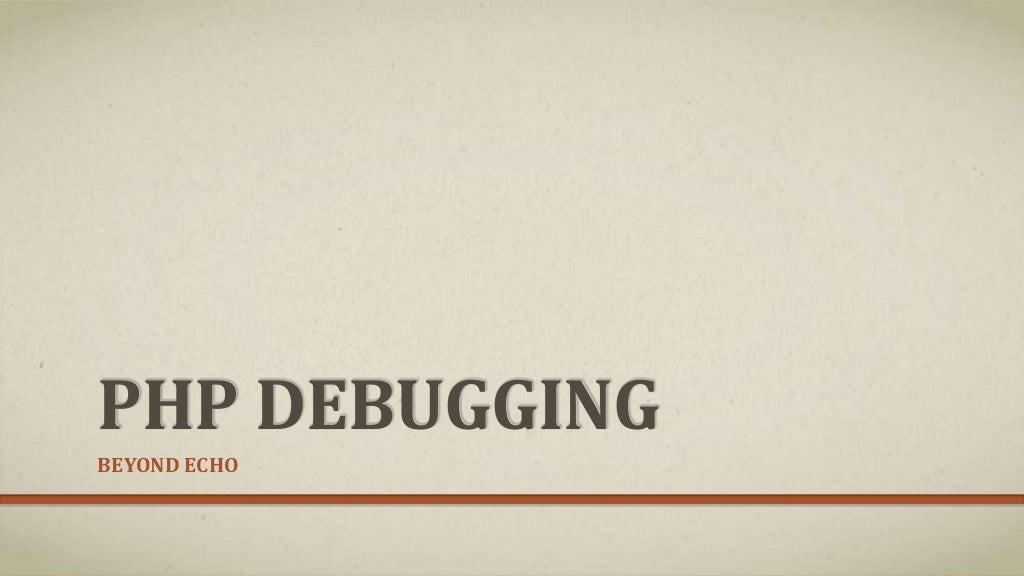 Php debugging