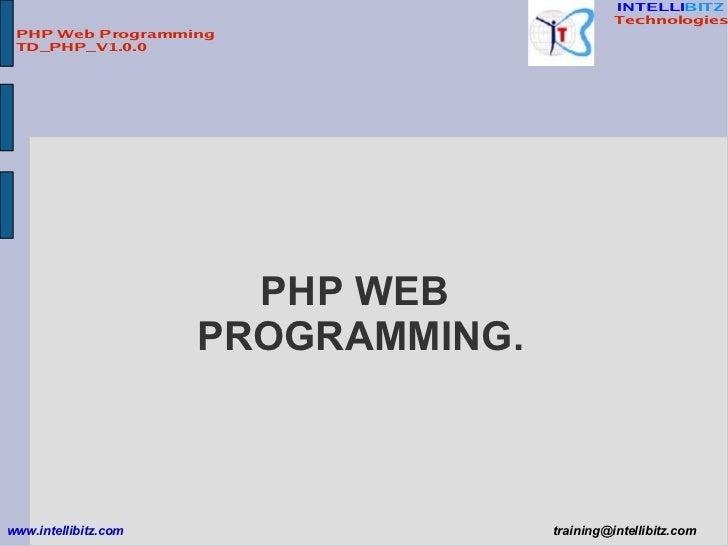PHP Web Programming Slide 2