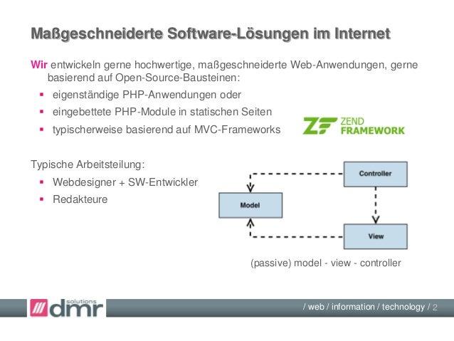 PHP-Module in statischen Seiten - Architektur-Ansätze Slide 2