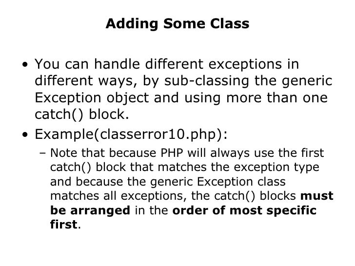 error handling in php pdf