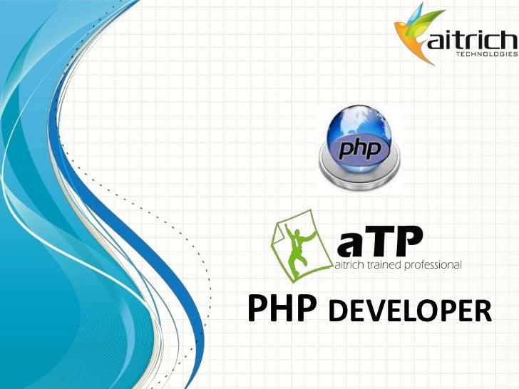 PHP developer<br />
