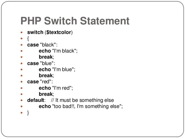php switch