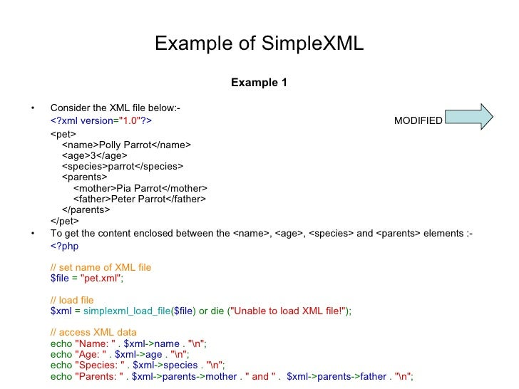 how to write xml file in php