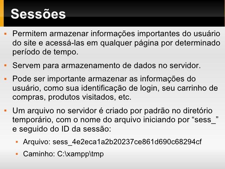 Php 03 Sessoes Cookies Cabecalhos Slide 2