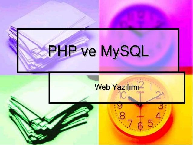 PHP ve MySQL Web Yazılımı