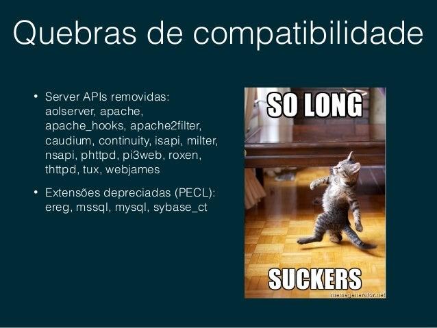 Novos operadores • Null coalesce operator (??) • Spaceship operator (<=>) • Group use • Unicode escape syntax (u)
