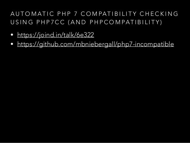 Automatic PHP 7 Compatibility Checking Using php7cc (and