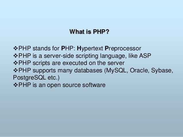 Php and MySQL Slide 2