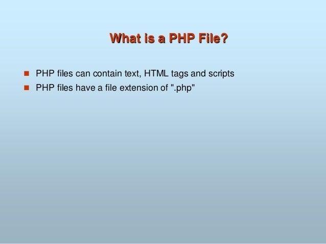 Php and MySQL Slide 3